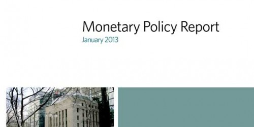 Monetary Policy Report - January 2013
