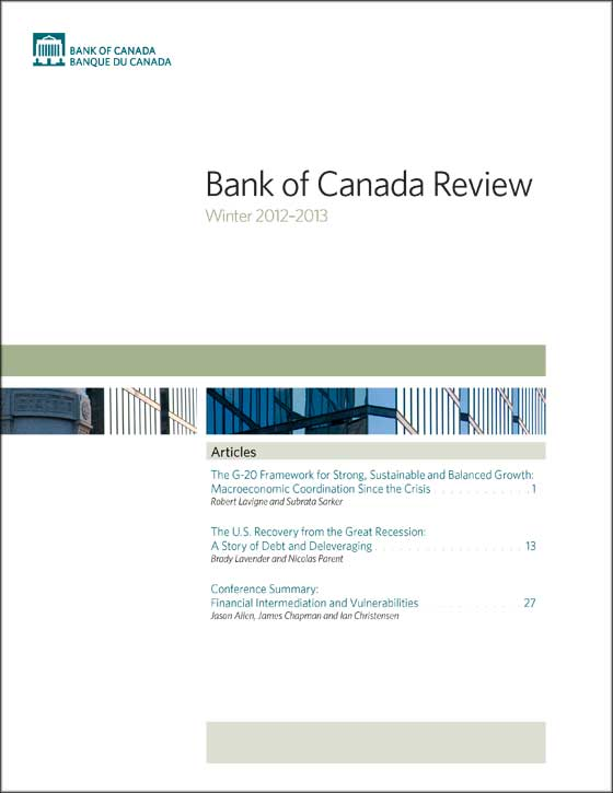 Bank of Canada Review - Winter 2012-2013