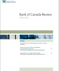 Bank of Canada Review - Autumn 2013