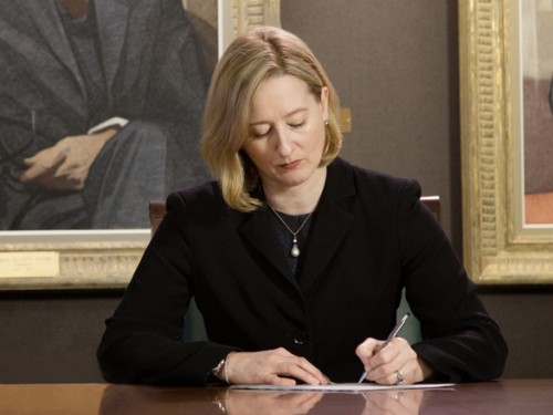 Carolyn Wilkins was appointed as Senior Deputy Governor on 2 May 2014 for a term of seven years.