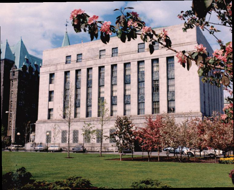 Western side of the Bank of Canada, 1966
