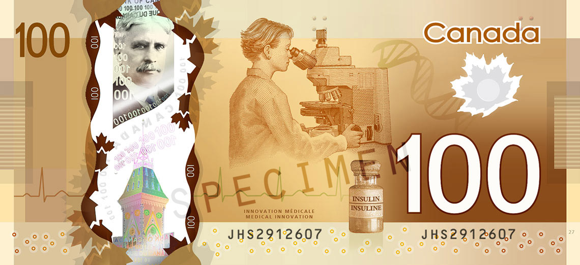 $100 Polymer Note - Bank of Canada
