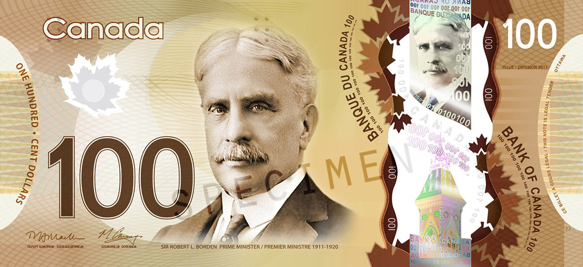 Front of $100 Note