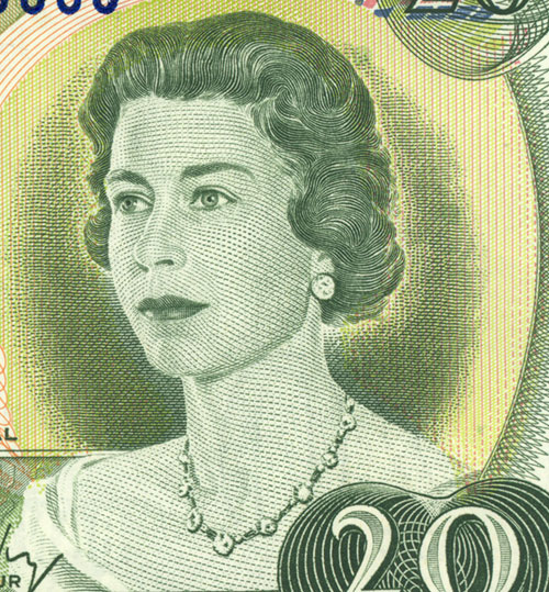 Detail of $20 note, Scenes of Canada series, Bank of Canada, issued 22 June 1970