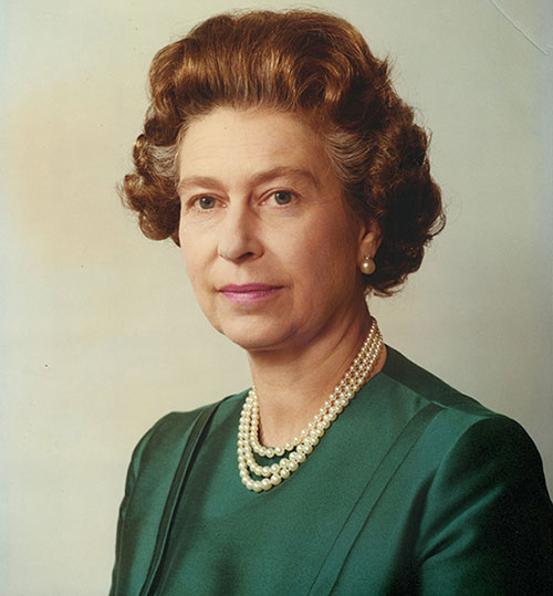 Queen Elizabeth II, photograph by Anthony Buckley (1912–93), print, c. 1983, National Currency Collection,  #2222.2010.00007