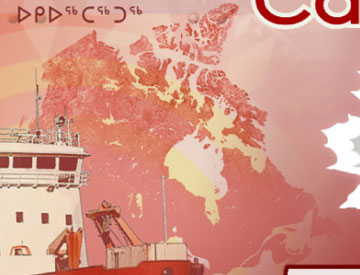 This map focuses on Canada's vast northern regions.