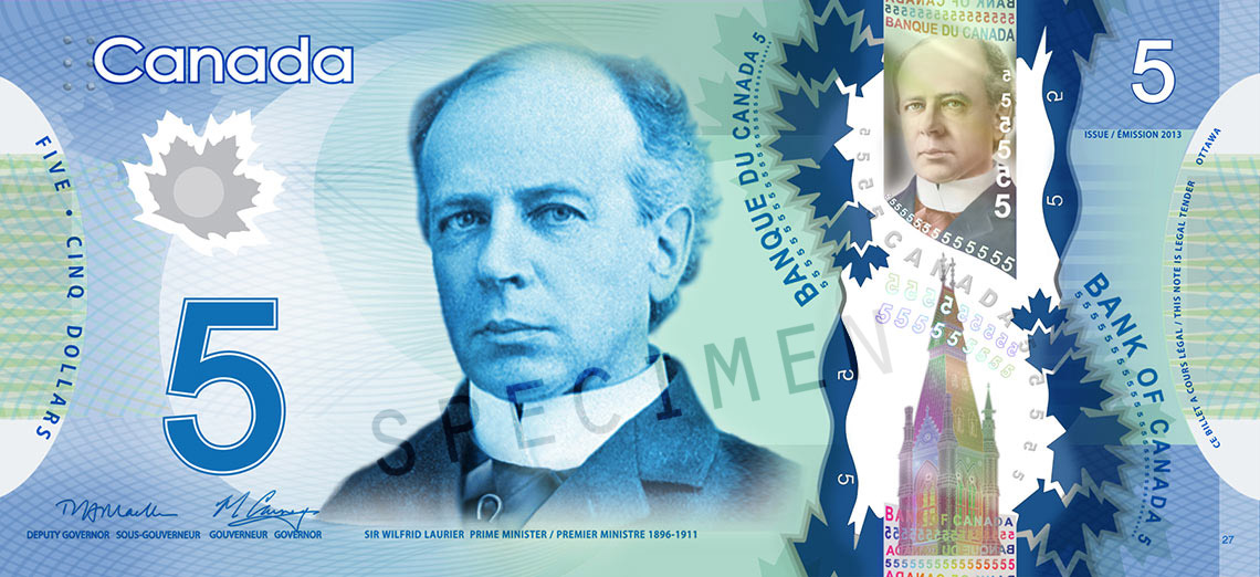 Front of $5 Note
