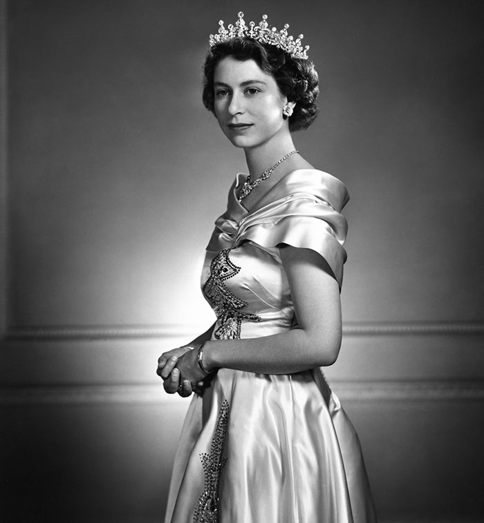 Queen Elizabeth II, photograph by Yousuf Karsh (1908–2002), 1951, © The Estate of Yousuf Karsh