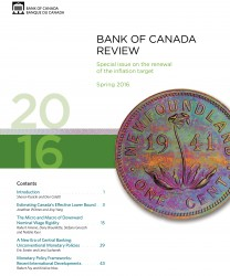 Bank of Canada Review - Spring 2016
