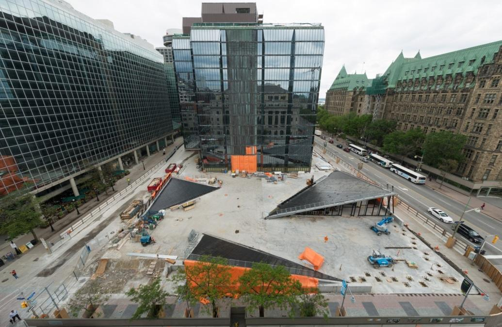 The renewed plaza will provide a vibrant outdoor space.