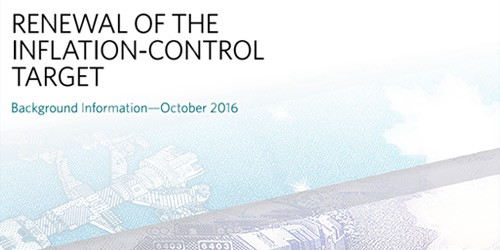 Cover - Renewal of the Inflation-Control Target - Background Information – October 2016