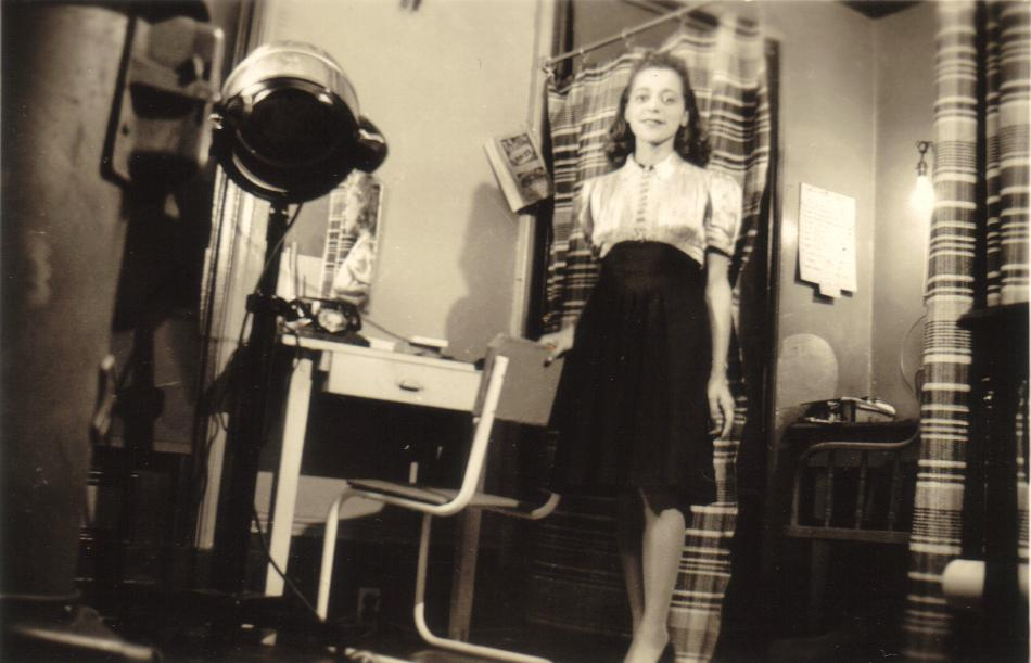 Viola Desmond in her studio, ca. 1938. Wanda Robson Collection. Beaton Institute, Cape Breton University.