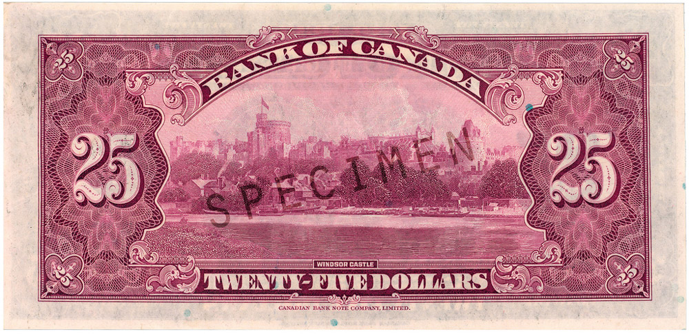 Back of $25 Commemorative Note (1935)