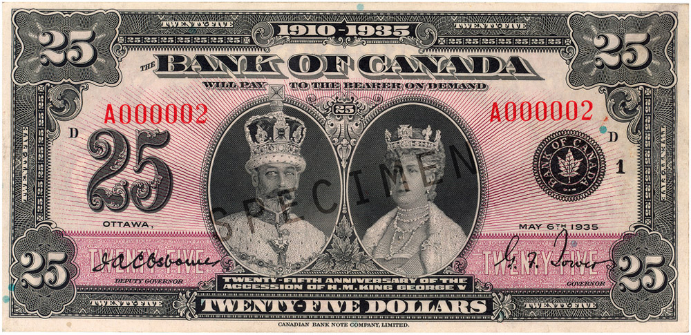 Commemorative Notes Bank Of Canada