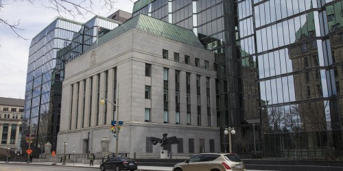 The Bank of Canada complex is known for its unique architectural elements, representing a balance between modern and classical architecture.