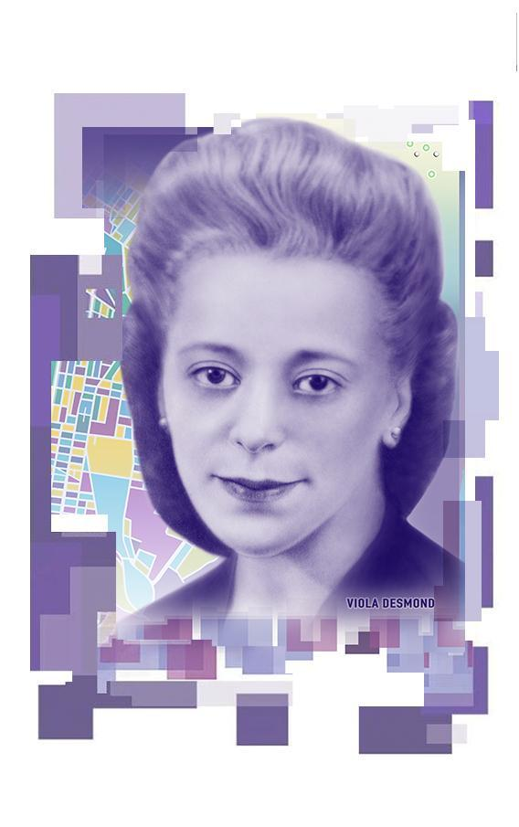 Viola Desmond portrait on $10 note