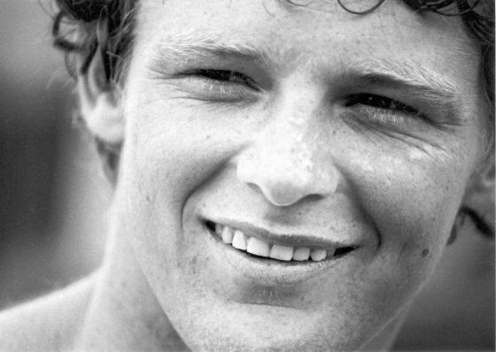 Terry Fox running outdoors.